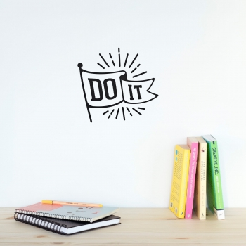 'Do it' Black Quote - Wallsticker