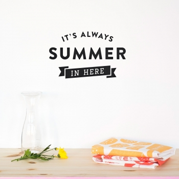 'Always Summer' Blue Quote - Wallsticker