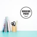 'Hugging Point' Black Quote - Wallsticker