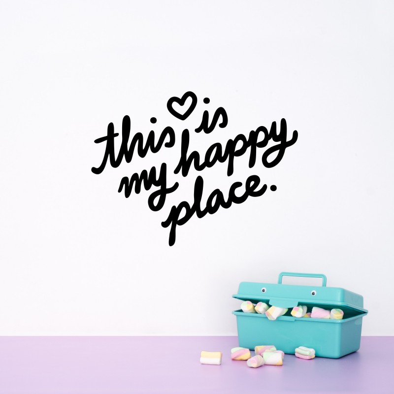 'This Is My Happy Place' Blue Quote - Made of Sundays | HeyLittleBaby