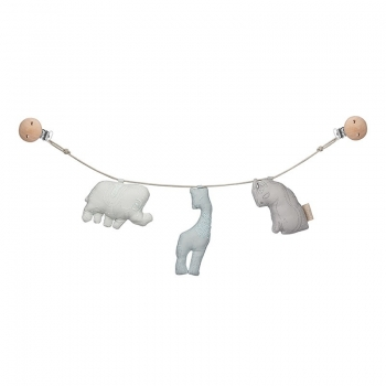 Mint Animal Pram chain