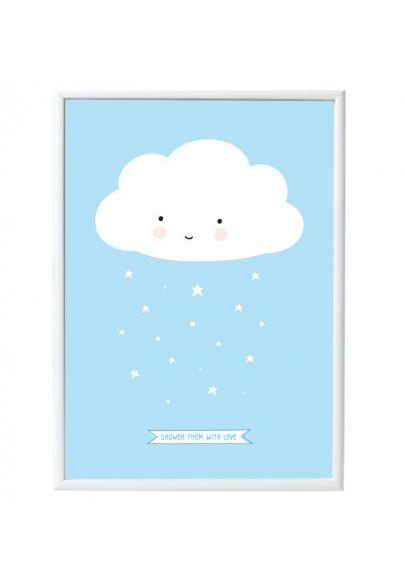 Blue Cloud Poster