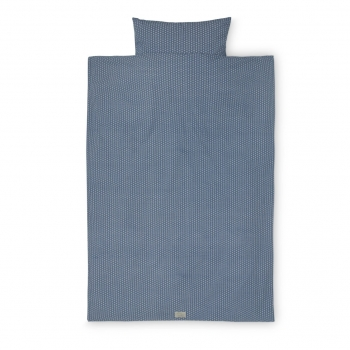 Sashiko Blue Baby Bedding