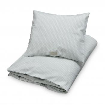 Sashiko Mint Baby Bedding