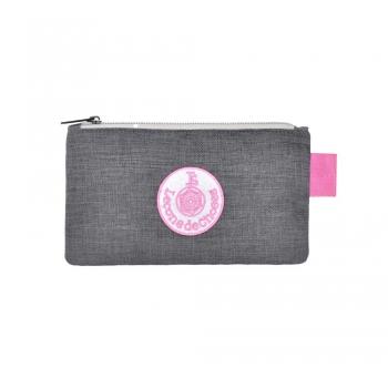 Small Grey / Pink Pencil Case