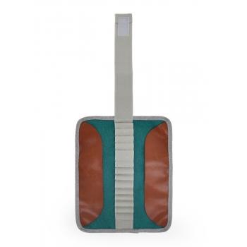 Light Grey / Green Pencil Case
