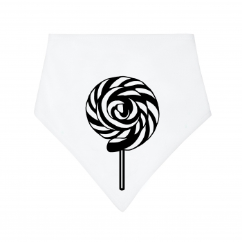 Black / White Lollipop Dribble Bib