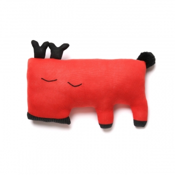 Oh Deer Cushion - Red