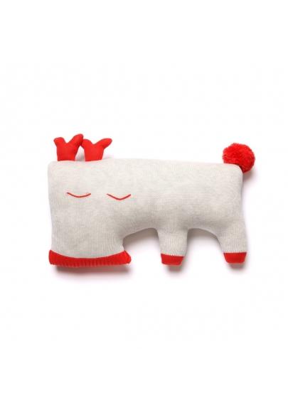 Oh Deer Cushion - Light Grey
