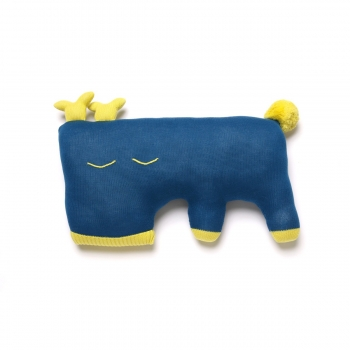 Oh Deer Cushion - Saphire Blue