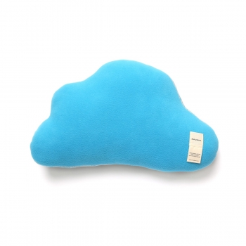 Snowy Cloud Cushion - Sky Blue
