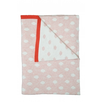 Pink Baby Cotton Blanket – Criss Cross