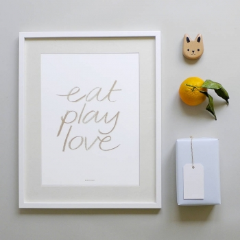 Eat Play Love Poster Gold
