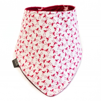 Double Sided Dribble Bib – Dancing Flamingos