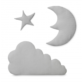 Light Grey Moon Star Cloud Wall Decoration