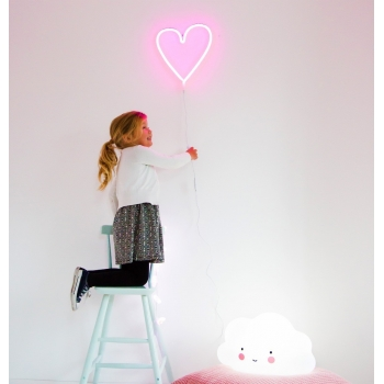 Pink Heart Neon Light