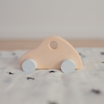 Wooden Fiat Toy Car