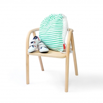 String Backpack - Green Stripes & Dots