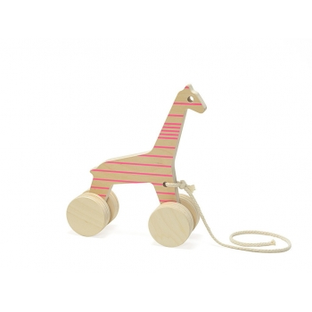 Pull Toy – Sofia the Giraffe - Pink Lines