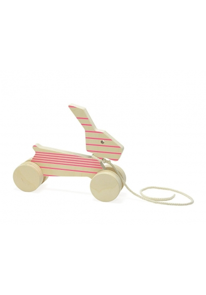 Pull Toy - Rick the Rabbit - Pink Lines