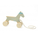 Pull Toy - Odile the Horse - Blue Lines