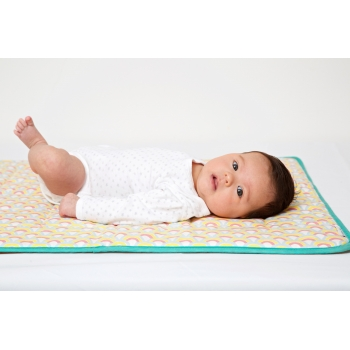 Waxed Cotton Baby Outdoor Playmat – Over the Rainbow