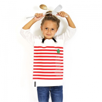Napkid Eating Bib - Red & White Stripes