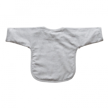 Eating Bib with Sleeves - Sirene Grey