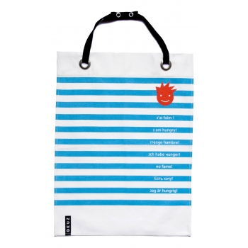 Napkid Eating Bib - Blue & White Stripes