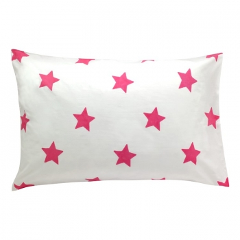 Bright Pink Stars Pillow Cover