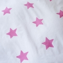 Bright Pink Stars Pillowcover