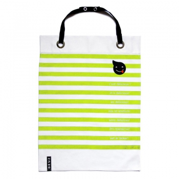 Napkid Eating Bib - Green & White Stripes