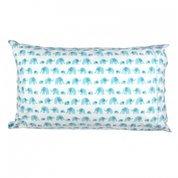 Turquoise Elephant Pillow cover