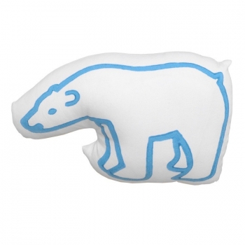 Blue Bear Printed Cushion
