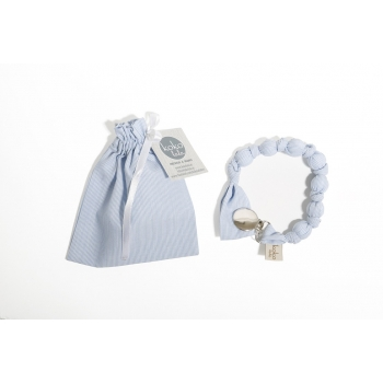 Light Blue Stripes Pacifier Holder