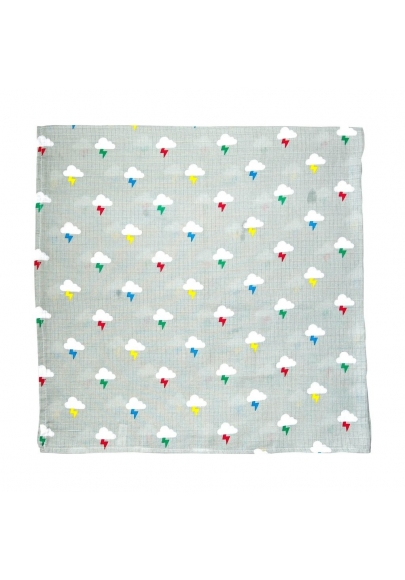 Clouds & Bolts Swaddle