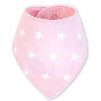 Double Sided Dribble Bib – Sugar Pink