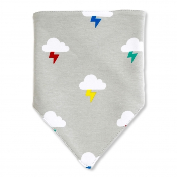 Clouds & Bolts Bib