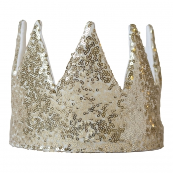 Golden Sequin Crown
