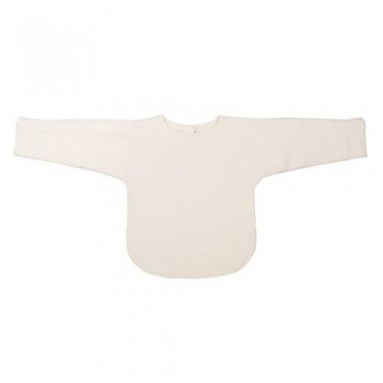 Bib with Sleeves - Diamond Ivory