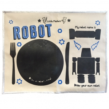Robot - Chalkboard Placemat
