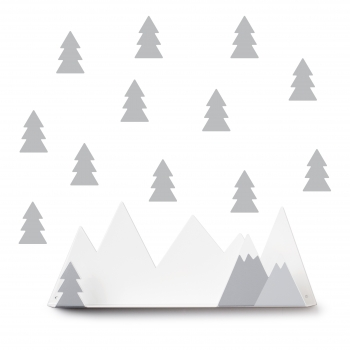 Grey Mountain Shelf & 12 Stickers