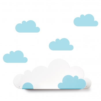 Blue Cloud Shelf & 4 Stickers