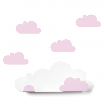 Pink Cloud Shelf & 4 Stickers