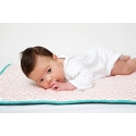 Waxed Cotton Baby Outdoor Playmat – Coral Round in Circles