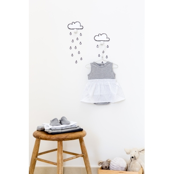 White Cloud Hooks & 20 Rain Drop Stickers