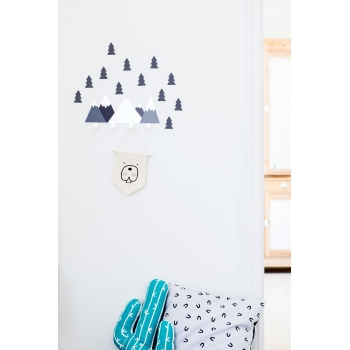 Black Mountain Wall Hooks & 12 Stickers