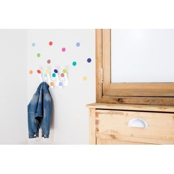 Bright coloured Dots Hanger & 10 Stickers