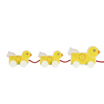 Wooden Duck Family Pull Toy