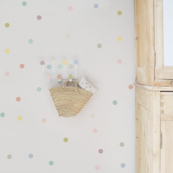 Pastel Dots Hanger & 10 Stickers